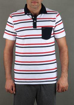 تی شرت مردانه یقه لاسگنه راه راه
