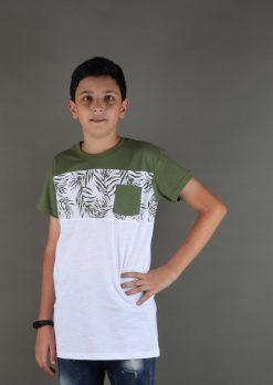 تی شرت یقه گرد پسرانه چاپ هاوایی،لباس راحتی