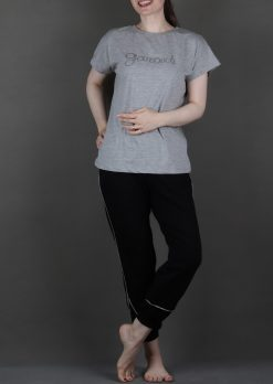 ست زنانه تیشرت و شلوار مغزی دوزی،لباس راحتی