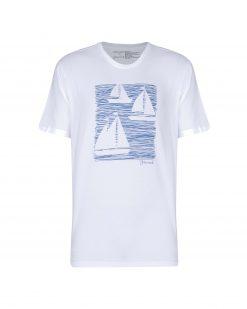 تی شرت مردانه چاپ قایق