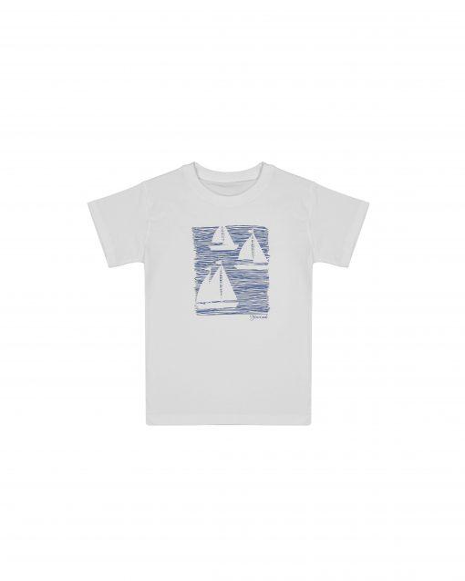 تی شرت دخترانه چاپ قایق