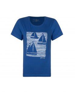 تی شرت زنانه چاپ قایق